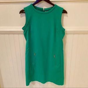 Gap Green Zip Back Sleeveless Dress